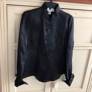 Saks Fifth Avenue Collection black silk shirt